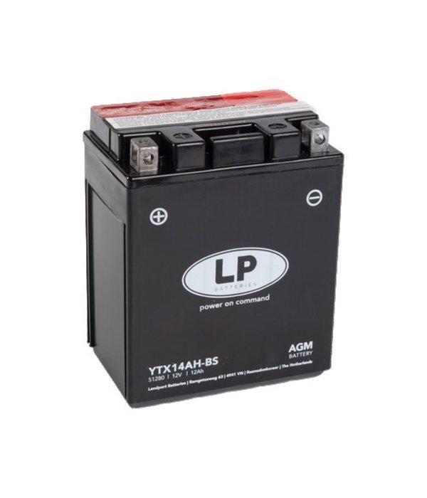 YTX14AH-BS 12 volt 12,0 ah AGM motor accu