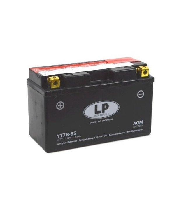 YT7B-BS 12 volt 6,5 ah AGM motor accu