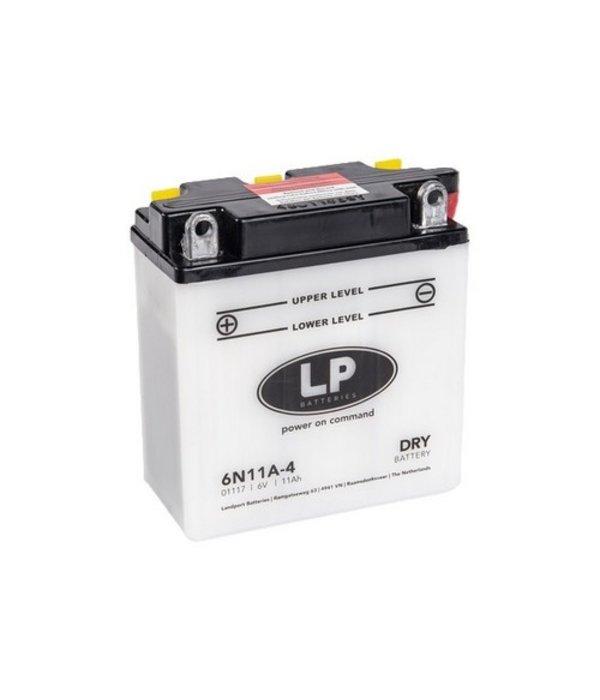 6N11A-4 motor accu 6 volt 11,0 ah