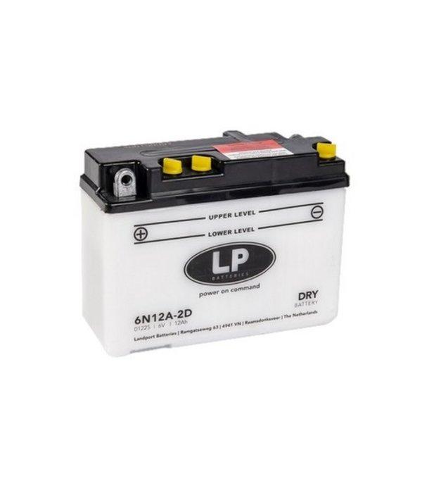 6N12A-2D motor accu 6 volt 12,0 ah