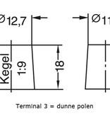 Dynac Auto accu 12 volt 35 ah Type 53520
