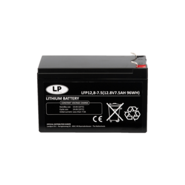 Lithium accu LFP V12-7,5 LiFePo4 12 volt 7,5 Ah 96 Wh