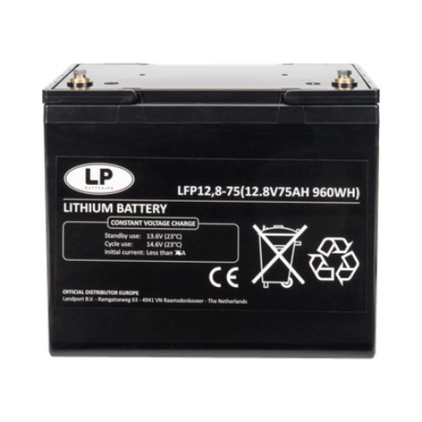 Lithium accu LFP V12-75 LiFePo4 12 volt 75 Ah 960 Wh