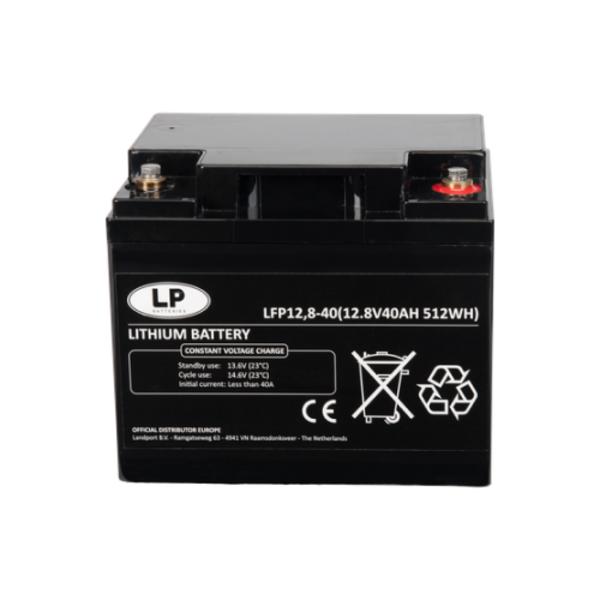 Lithium accu LFP V12-40 LiFePo4 12 volt 40 Ah 512 Wh