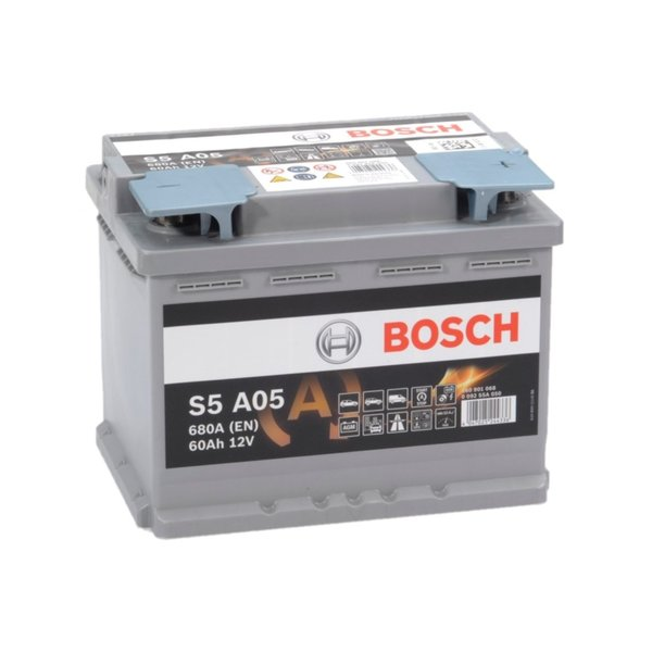 S5A05 AGM start accu 12 volt 60 ah