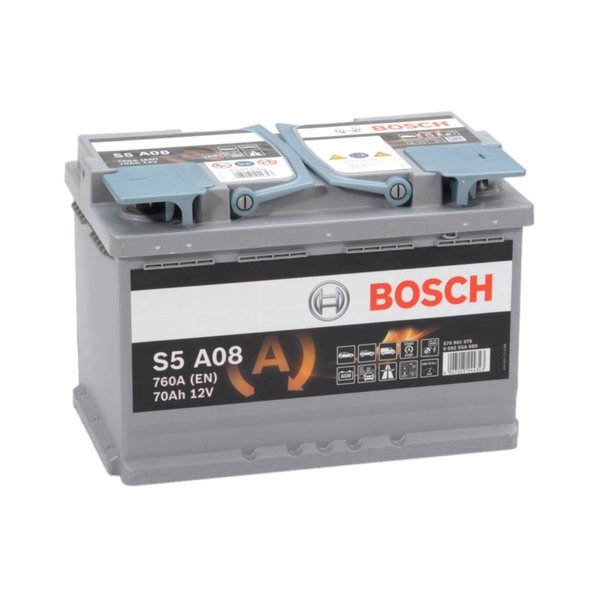 S5A08 AGM start accu 12 volt 70 ah