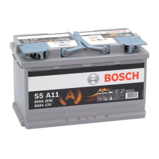 Bosch S5A11 AGM start accu 12 volt 80 ah