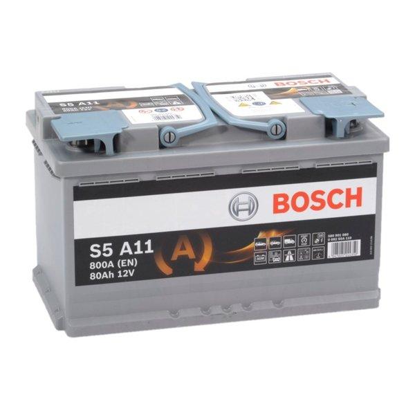 S5A11 AGM start accu 12 volt 80 ah