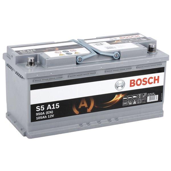 S5A15 AGM start accu 12 volt 105 ah