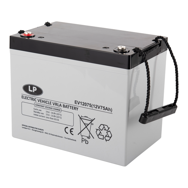 EV12075 accu 12 volt 75 ah Electric Vehicle VRLA Battery