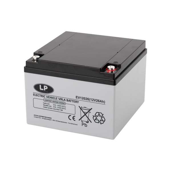 EV12026 accu 12 volt 26 ah Electric Vehicle VRLA Battery