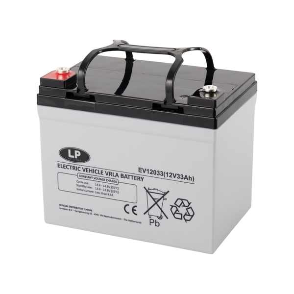 EV12033 accu 12 volt 33 ah Electric Vehicle VRLA Battery