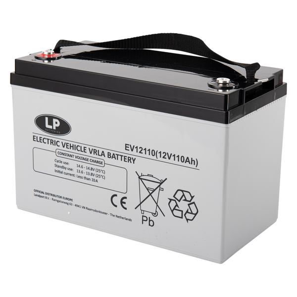 EV12110 accu 12 volt 110 ah Electric Vehicle VRLA Battery