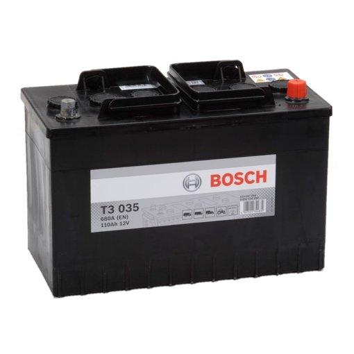 Bosch Accu 12 volt 110 ah T3035 Black truckline