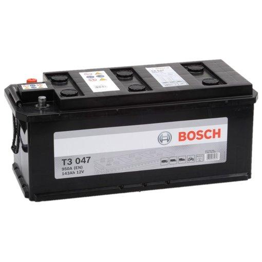 Bosch Accu 12 volt 143 ah T3047 Black truckline