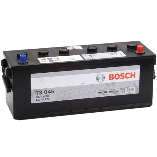 Bosch Accu 12 volt 143 ah T3046 Black truckline
