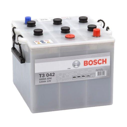 Bosch Accu 12 volt 125 ah T3042 Black truckline