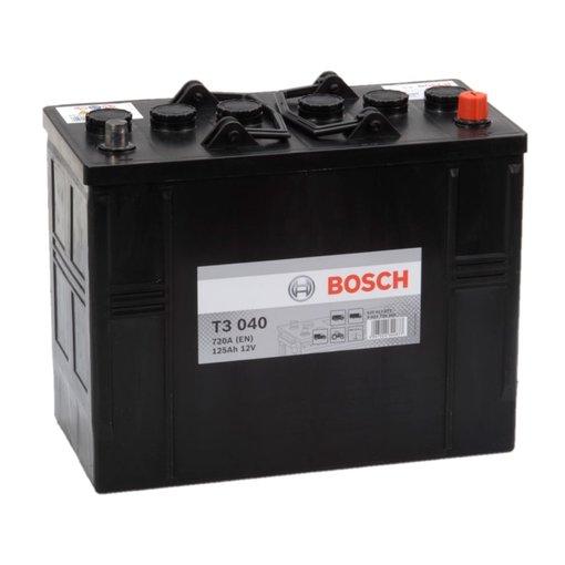 Bosch Accu 12 volt 125 ah T3040 Black truckline