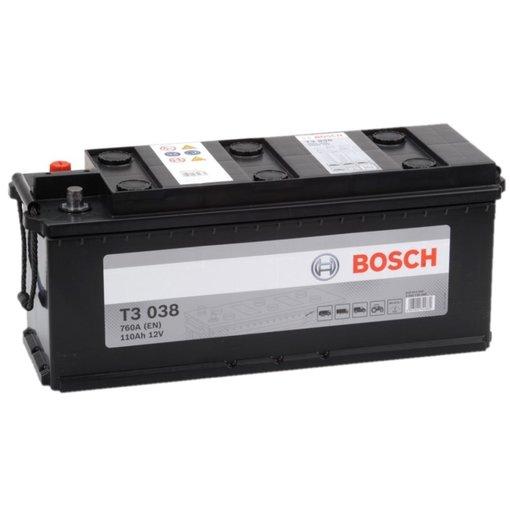 Bosch Accu 12 volt 110 ah T3038 Black truckline