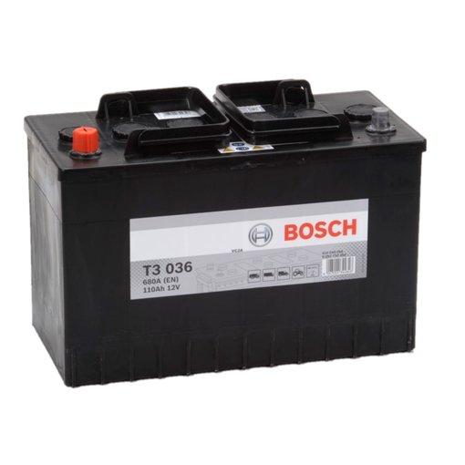 Bosch Accu 12 volt 110 ah T3036 Black truckline