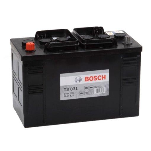 Bosch Accu 12 volt 90 ah T3031 Black truckline