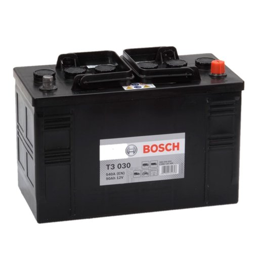 Bosch Accu 12 volt 90 ah T3030 Black truckline