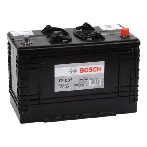 Bosch Accu 12 volt 110 ah T3037 Black truckline