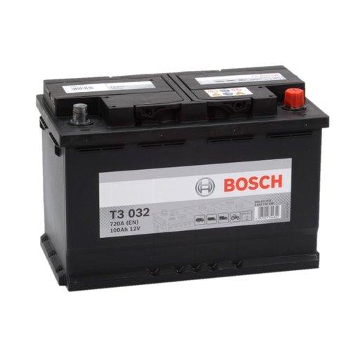 Bosch Accu 12 volt 100 ah T3032 Black truckline
