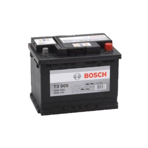 Bosch Accu 12 volt 55 ah T3005 Black truckline