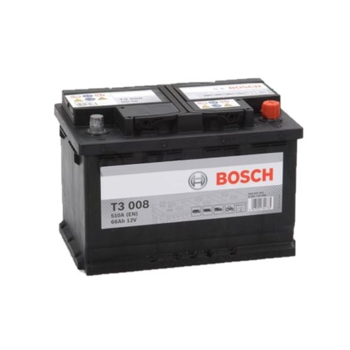 Bosch Accu 12 volt 66 ah T3008 Black truckline