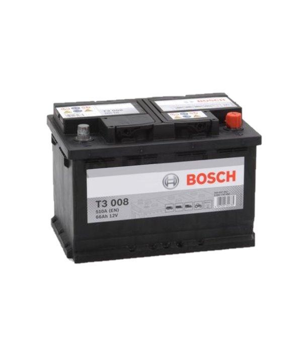 Bosch Startaccu 12 volt 66 ah T3 008 Black truckline