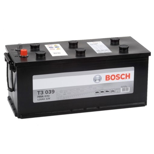 Bosch Accu 12 volt 120 ah T3039 Black truckline