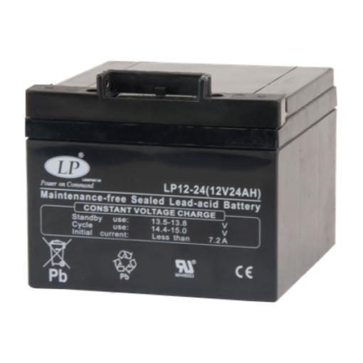 AGM 12-24 VRLA-LPC accu 12 volt 24 ah t12p