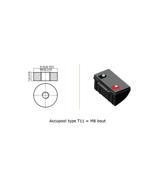 VRLA-LP-AGM accu 12 volt 250 ah LP12-250