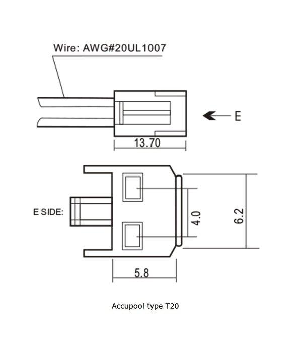 VRLA-LP accu 12 volt 0,8 ah LP12-0,8