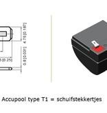 VRLA-LP accu 12 volt 2,1 ah LP12-2,1 VDS
