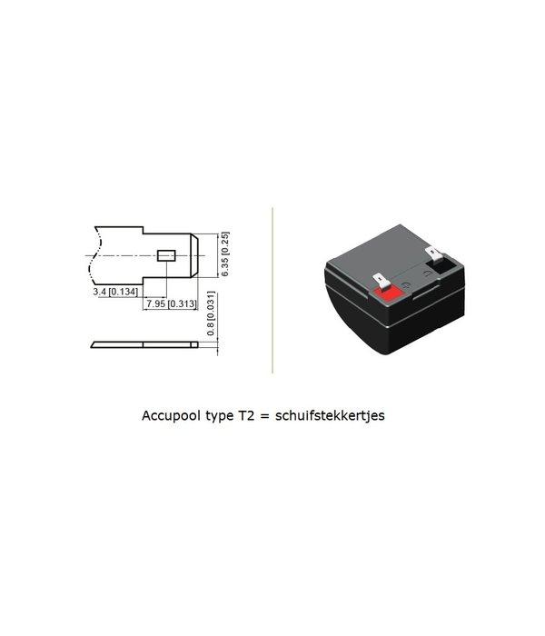 VRLA-LP accu 12 volt 12,0 ah LP12-12 VDS