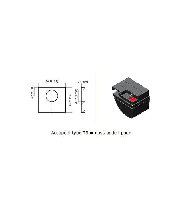 VRLA-LP accu 12 volt 20.0 ah LP12-20