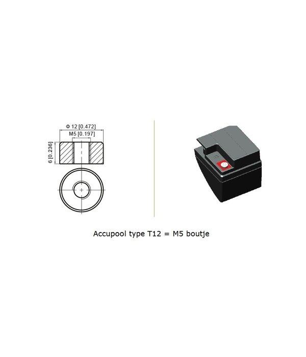 VRLA-LP accu 12 volt 17.0 ah LP12-17 T12