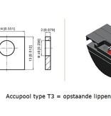 VRLA-LP accu 12 volt 24.0 ah LP12-24 T3 VDS