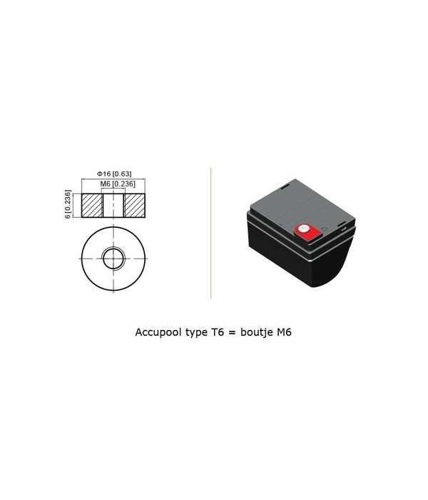 VRLA-LP accu 12 volt 40.0 ah LP12-40 VDS