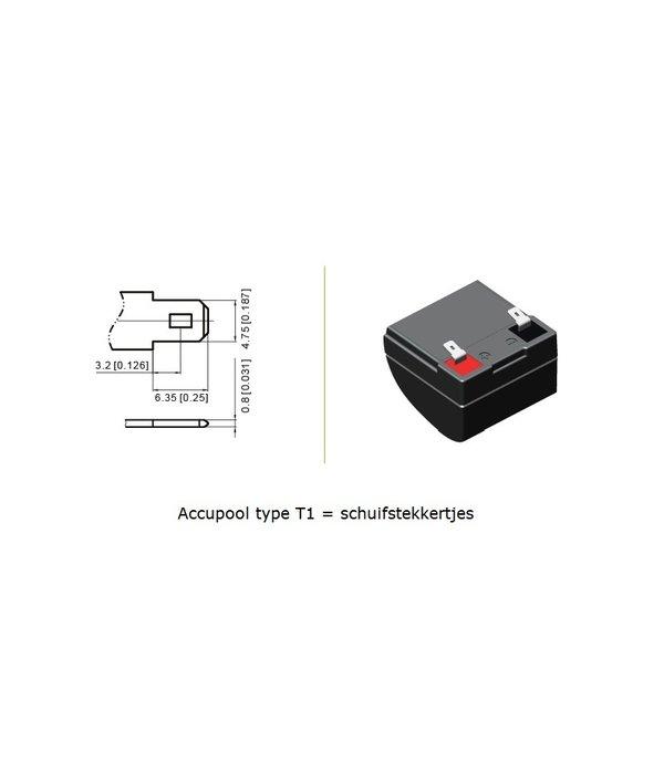 VRLA-LP accu 6 volt 1,2 ah LP6-1,2