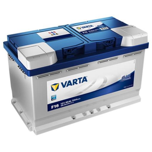 Varta Auto accu 12 volt 80 Ah Blue Dynamic 580 400 074 type F16