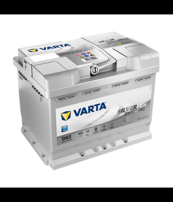 Varta Auto accu 12 volt 60 Ah Silver Dynamic AGM type D52