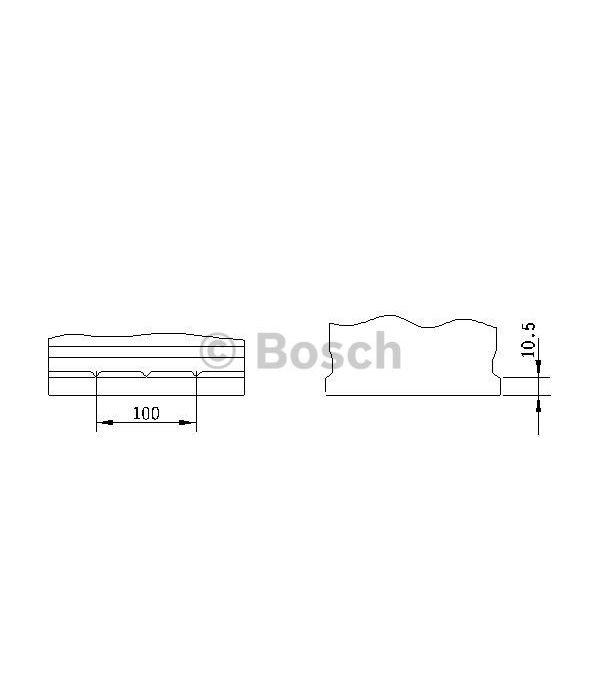 Bosch Accu EFB start-stop 12 volt 72 ah Type S4 E41