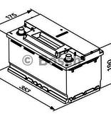 Bosch Accu EFB start-stop 12 volt 95 ah Type S4 E13