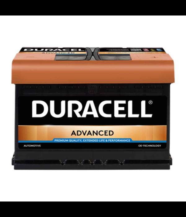 Duracell 12 volt 72 ah Auto accu BDA 72