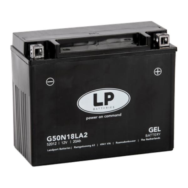 G50N18LA2 motor GEL accu 12 volt 20 ah