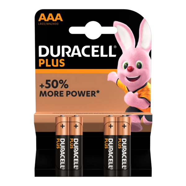 Batterij Plus Power Duralock AAA blister 4