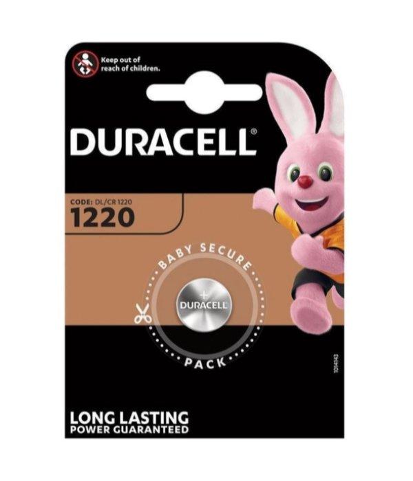 Duracell Knoopcel batterij Lithium CR1220 blister 1